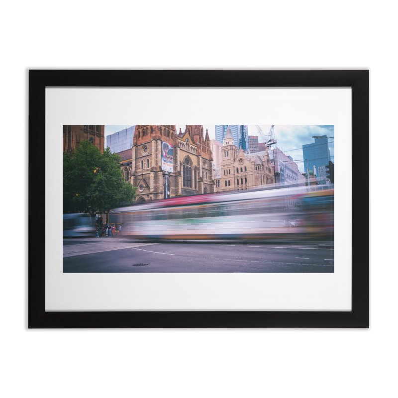 Trams in Melbourne Home Framed Fine Art Print by Mrc's Artist Shop