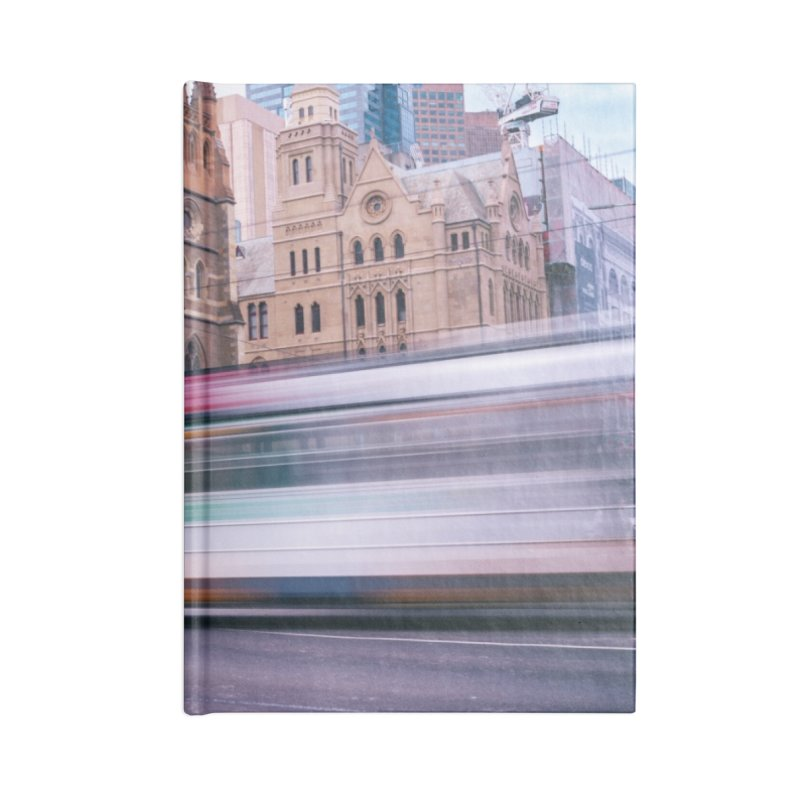 Trams in Melbourne Accessories Lined Journal Notebook by Mrc's Artist Shop