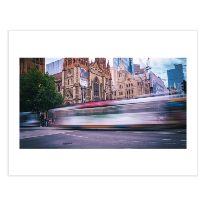 Trams in Melbourne Home Fine Art Print by Mrc's Artist Shop