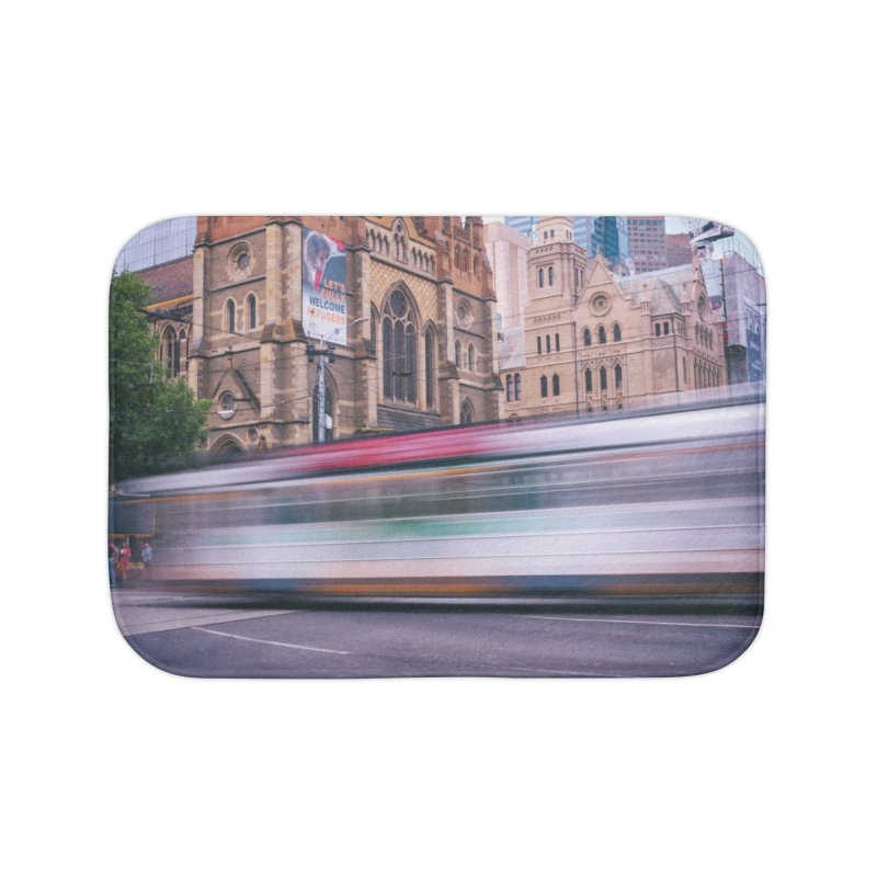 Trams in Melbourne Home Bath Mat by Mrc's Artist Shop
