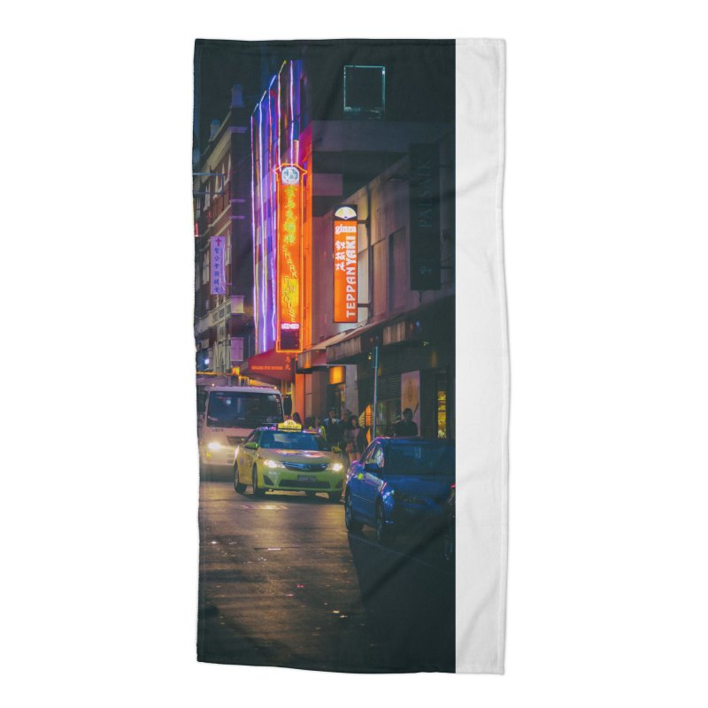 Chinatown Night Scene Accessories Beach Towel by Mrc's Artist Shop