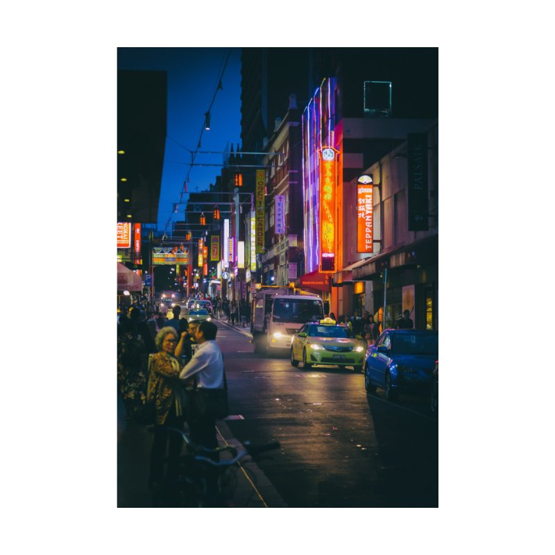 Chinatown Night Scene Home Stretched Canvas by Mrc's Artist Shop