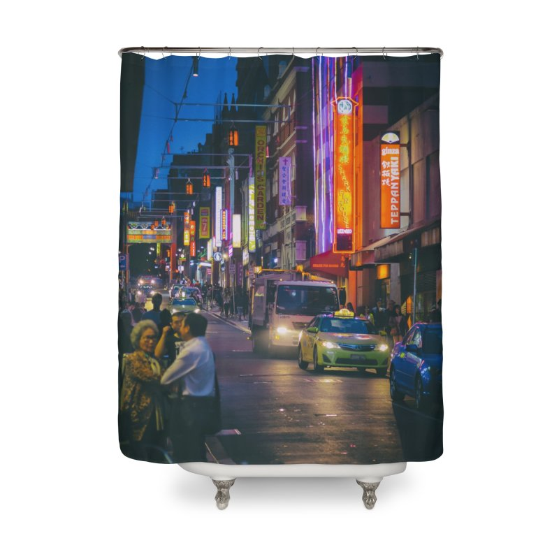 Chinatown Night Scene Home Shower Curtain by Mrc's Artist Shop