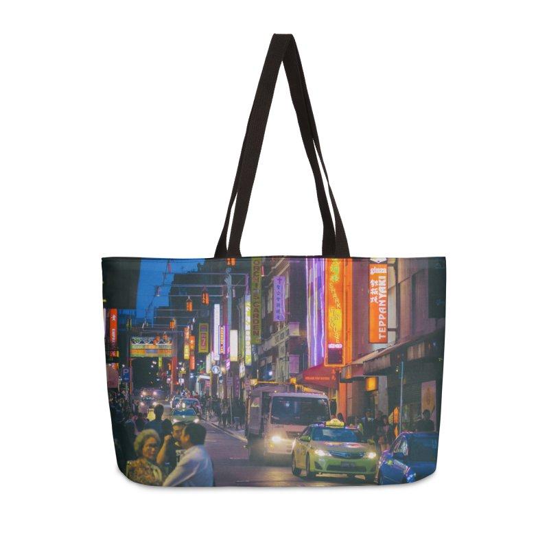 Chinatown Night Scene Accessories Weekender Bag Bag by Mrc's Artist Shop
