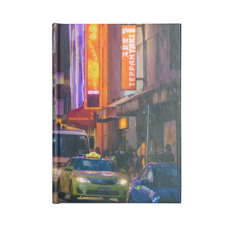 Chinatown Night Scene Accessories Notebook by Mrc's Artist Shop