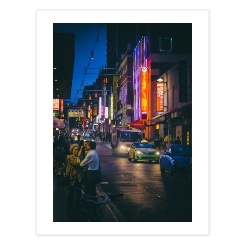 Chinatown Night Scene Home Fine Art Print by Mrc's Artist Shop