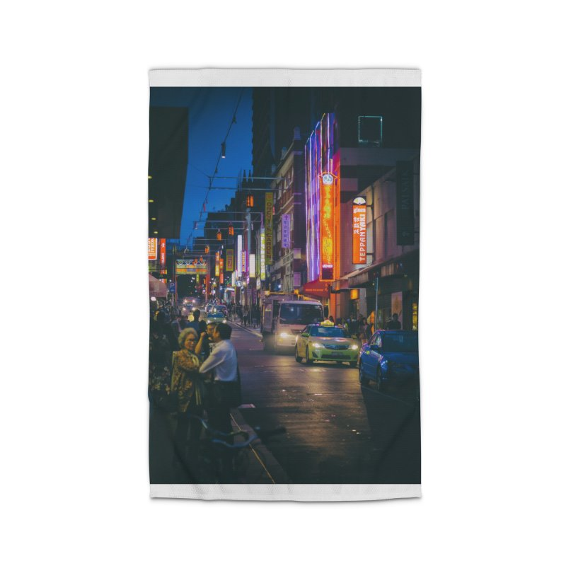 Chinatown Night Scene Home Rug by Mrc's Artist Shop