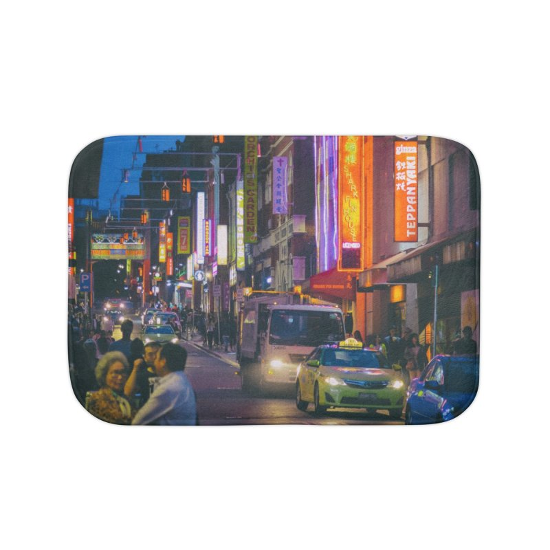 Chinatown Night Scene Home Bath Mat by Mrc's Artist Shop