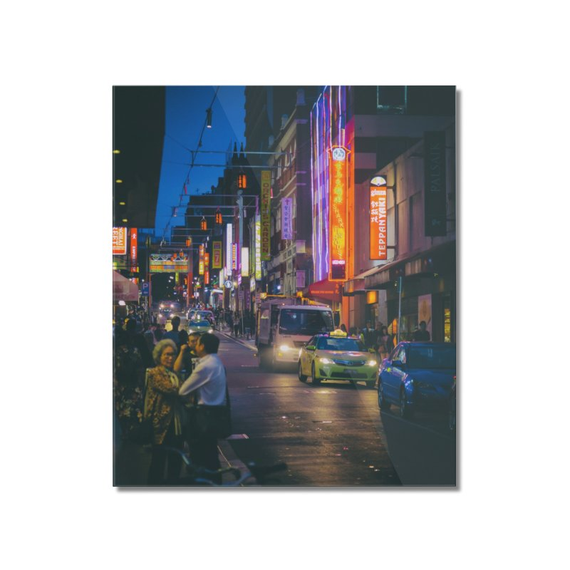 Chinatown Night Scene Home Mounted Acrylic Print by Mrc's Artist Shop