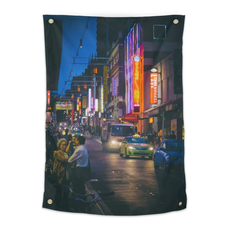 Chinatown Night Scene Home Tapestry by Mrc's Artist Shop