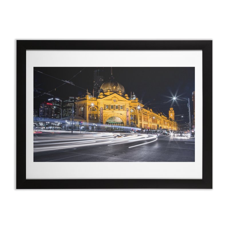 Melbourne Icon in Framed Fine Art Print Black by Mrc's Artist Shop