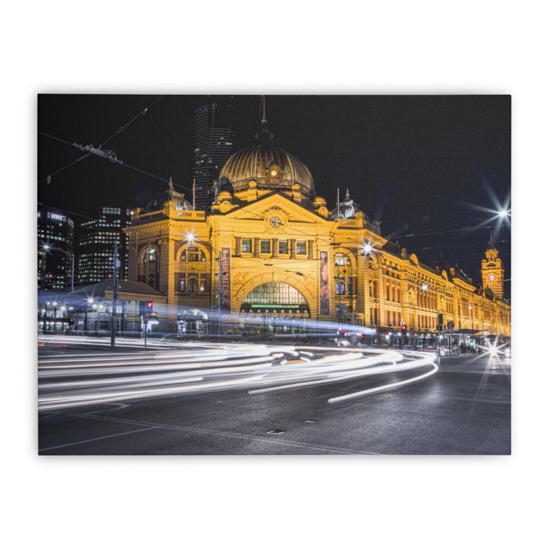 Melbourne Icon Home Stretched Canvas by Mrc's Artist Shop