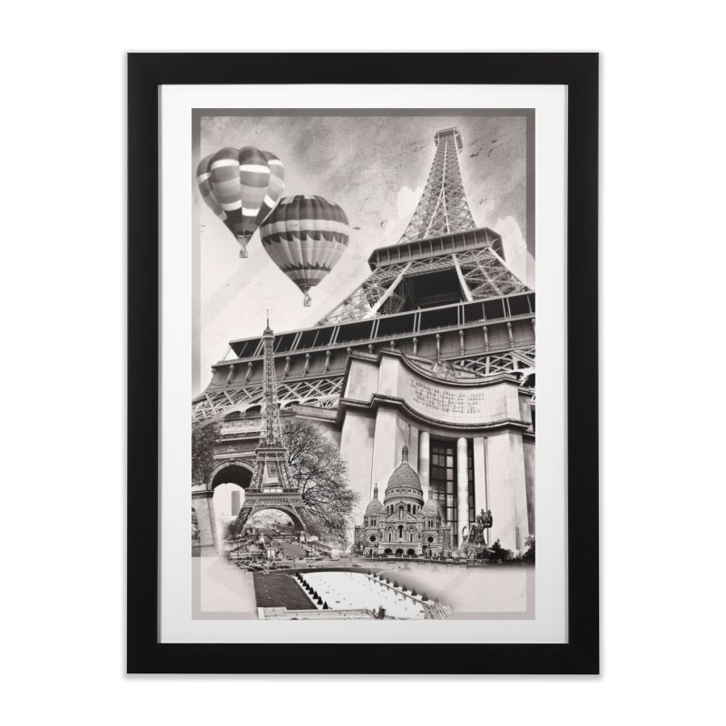 French Collage Home Framed Fine Art Print by Mrc's Artist Shop
