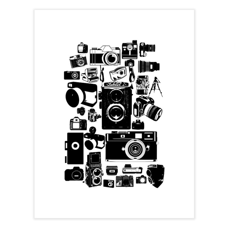 Cameras Home Fine Art Print by Mrc's Artist Shop