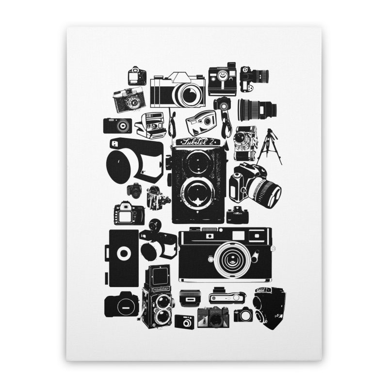 Cameras Home Stretched Canvas by Mrc's Artist Shop