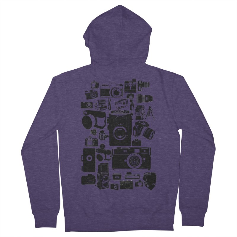 Cameras Men's French Terry Zip-Up Hoody by Mrc's Artist Shop