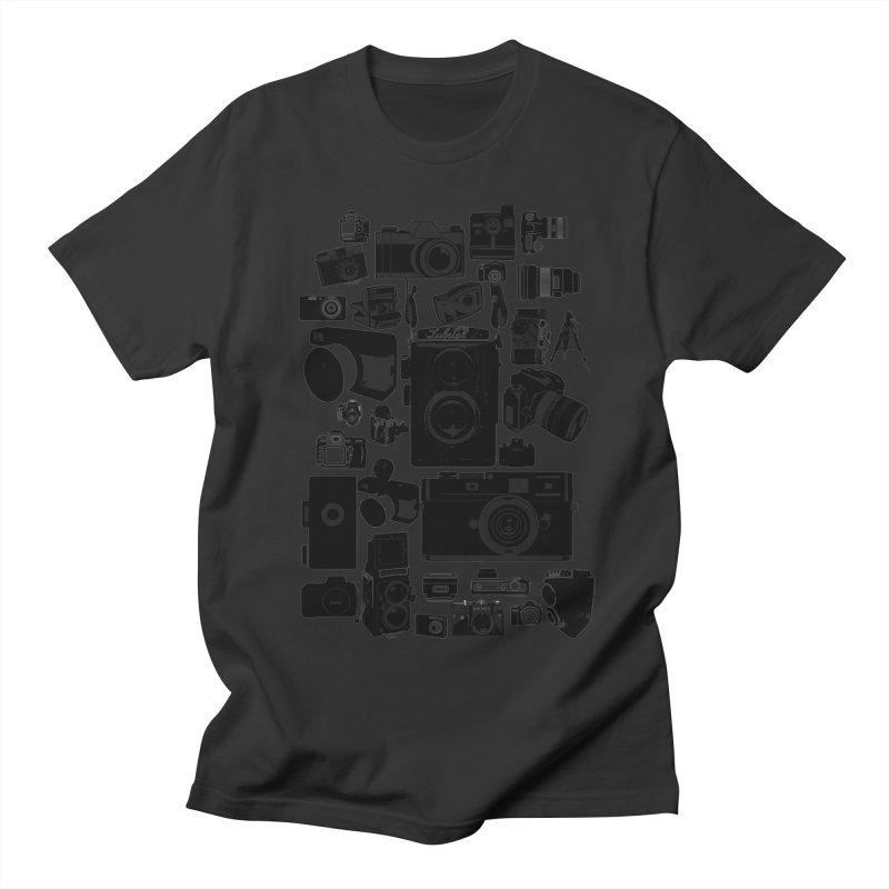 Cameras Men's Regular T-Shirt by Mrc's Artist Shop
