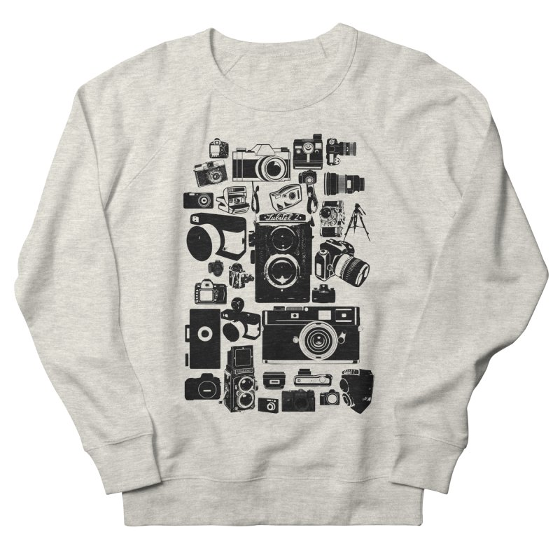 Cameras Men's French Terry Sweatshirt by Mrc's Artist Shop