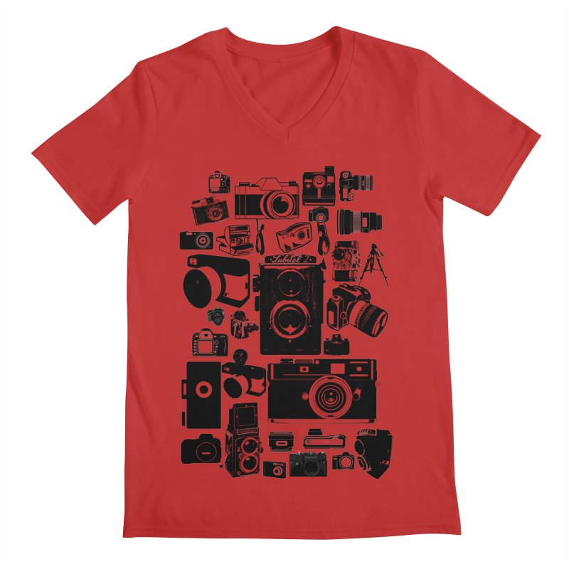 Cameras Men's V-Neck by Mrc's Artist Shop