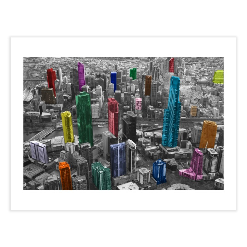 Selective City Home Fine Art Print by Mrc's Artist Shop