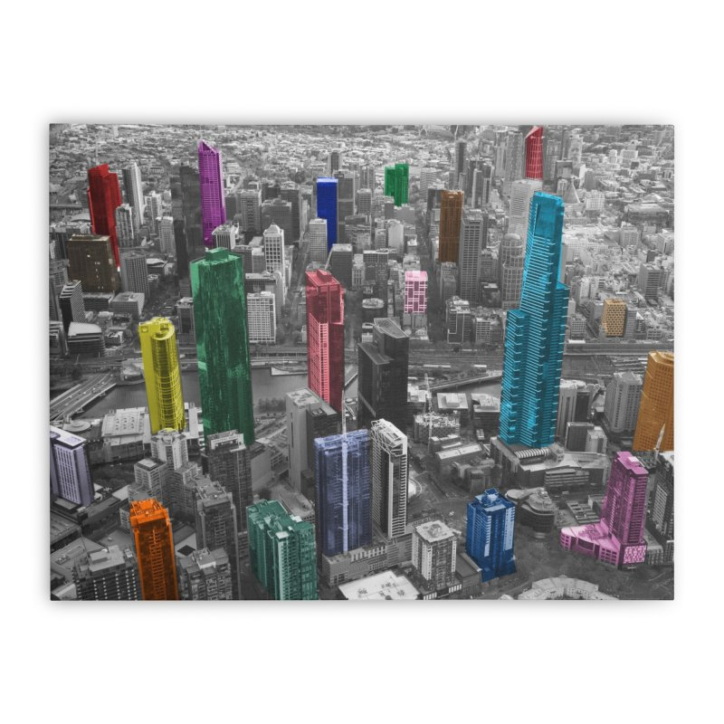 Selective City Home Stretched Canvas by Mrc's Artist Shop