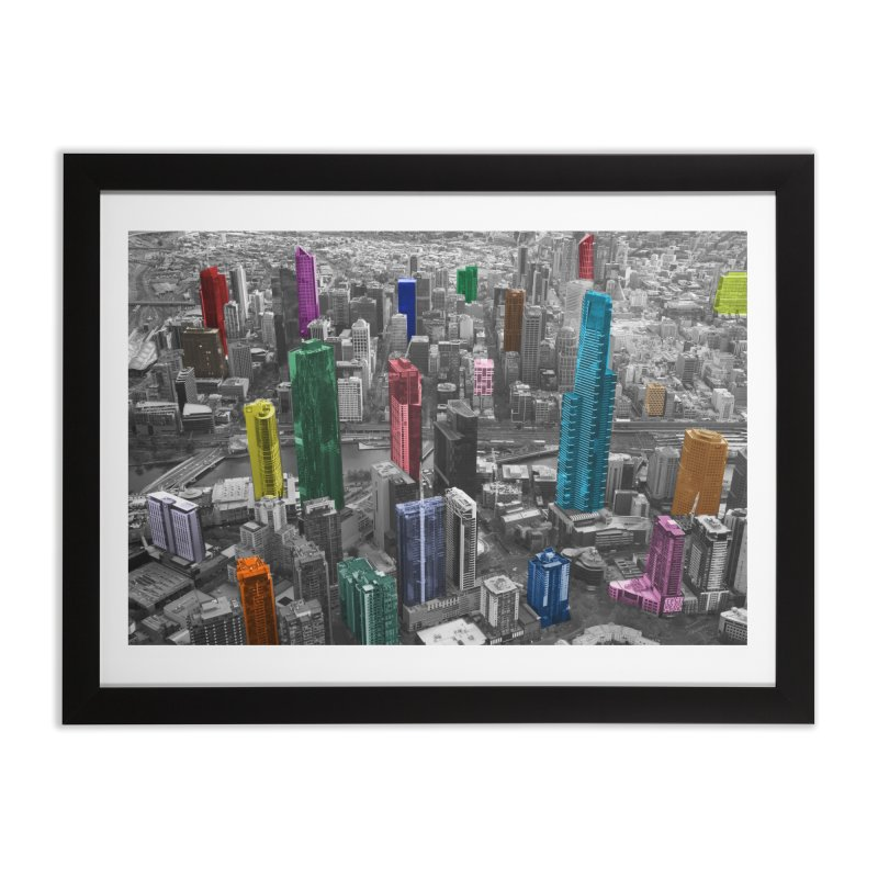 Selective City in Framed Fine Art Print Black by Mrc's Artist Shop