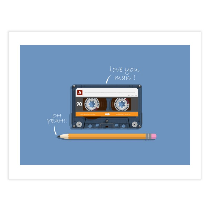 Cassette and Pencil Home Fine Art Print by Mrc's Artist Shop