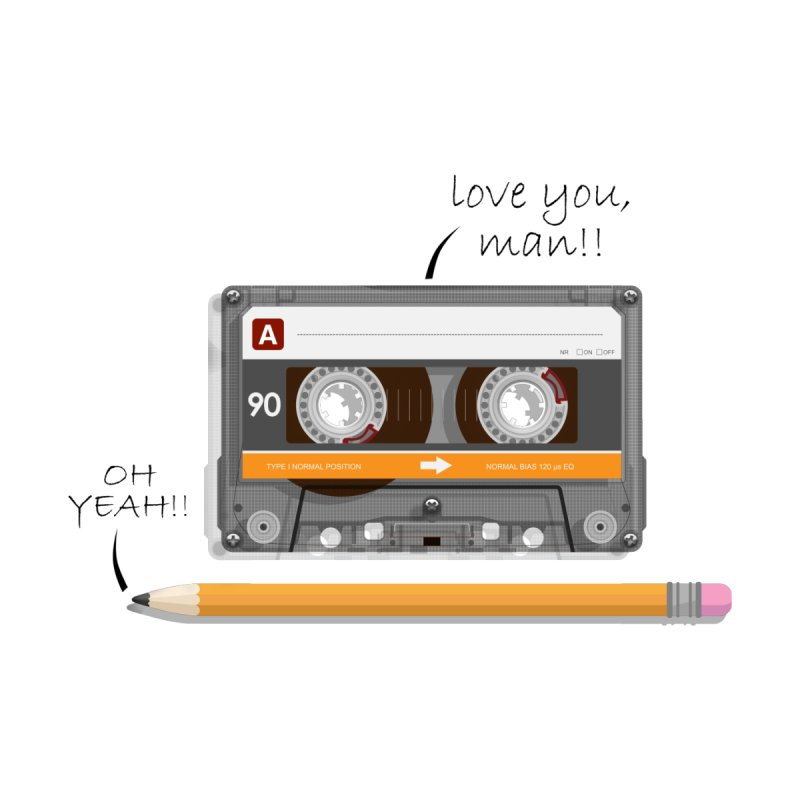 Cassette and Pencil by Mrc's Artist Shop