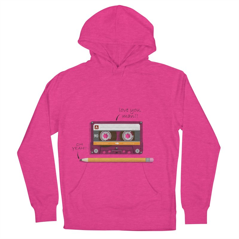 Cassette and Pencil Men's French Terry Pullover Hoody by Mrc's Artist Shop