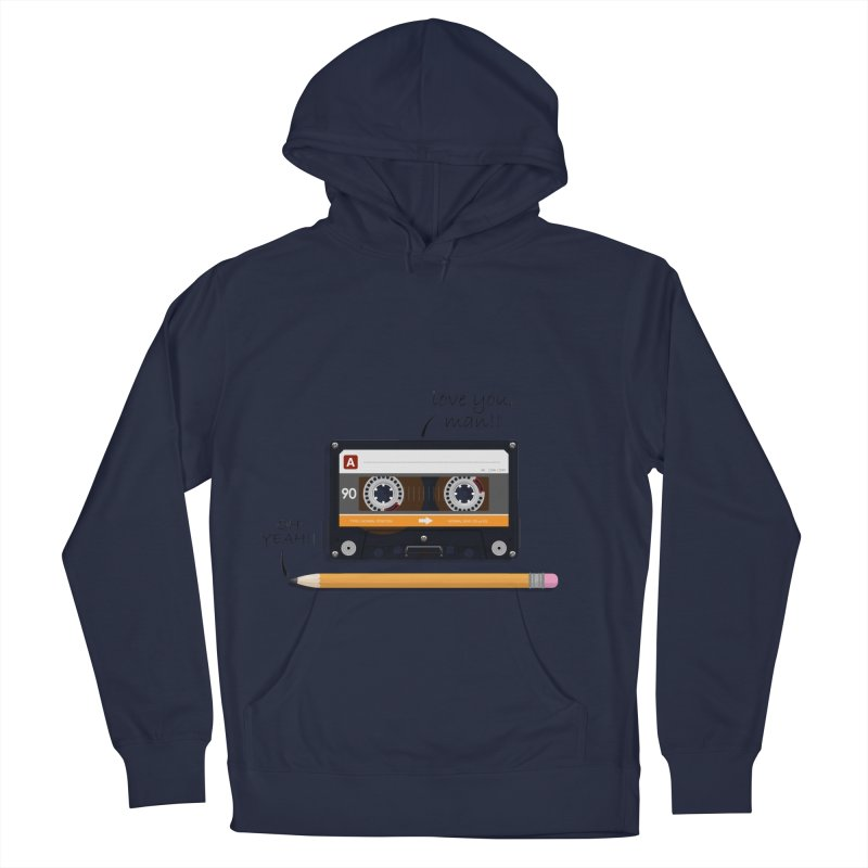Cassette and Pencil Men's Pullover Hoody by Mrc's Artist Shop