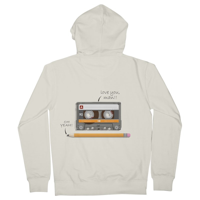 Cassette and Pencil Men's Zip-Up Hoody by Mrc's Artist Shop