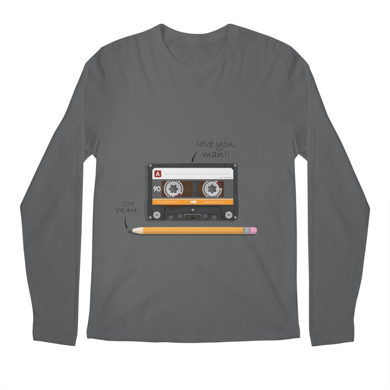 Cassette and Pencil Men's Regular Longsleeve T-Shirt by Mrc's Artist Shop