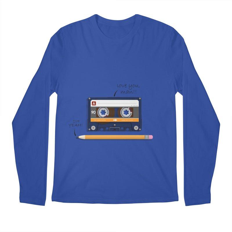 Cassette and Pencil Men's Longsleeve T-Shirt by Mrc's Artist Shop