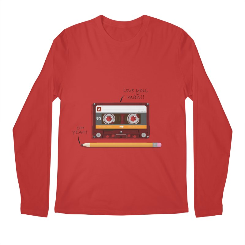 Cassette and Pencil Men's Longsleeve T-Shirt by Mrc's Artist Shop
