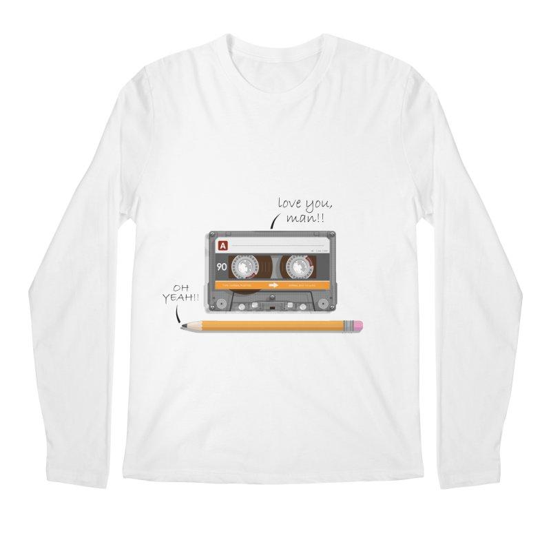 Cassette and Pencil Men's Regular Longsleeve T-Shirt by Mrc's Artist Shop