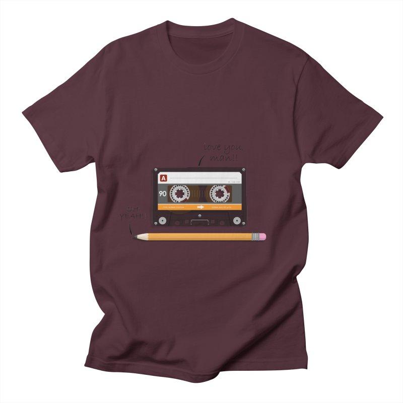 Cassette and Pencil Men's T-Shirt by Mrc's Artist Shop