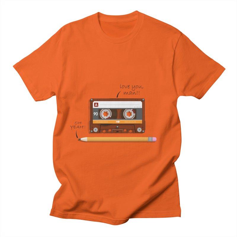 Cassette and Pencil Men's Regular T-Shirt by Mrc's Artist Shop