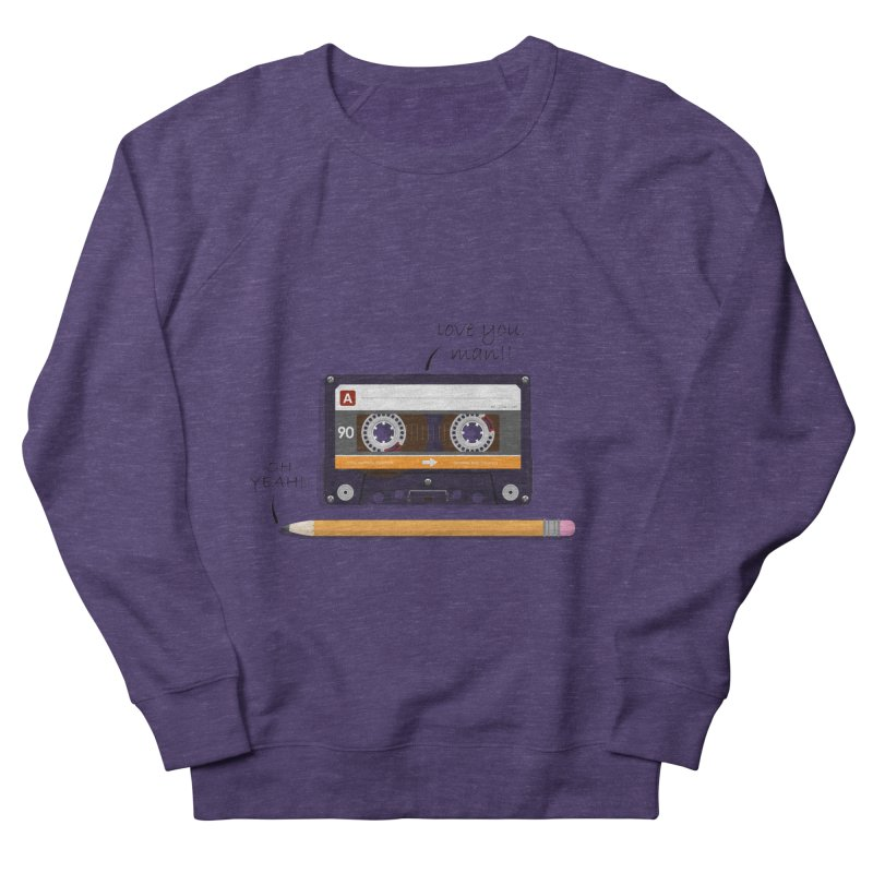 Cassette and Pencil Men's French Terry Sweatshirt by Mrc's Artist Shop