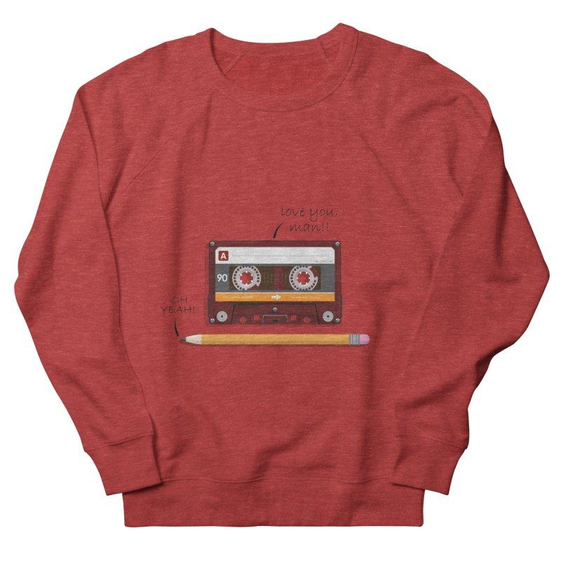 Cassette and Pencil Men's Sweatshirt by Mrc's Artist Shop