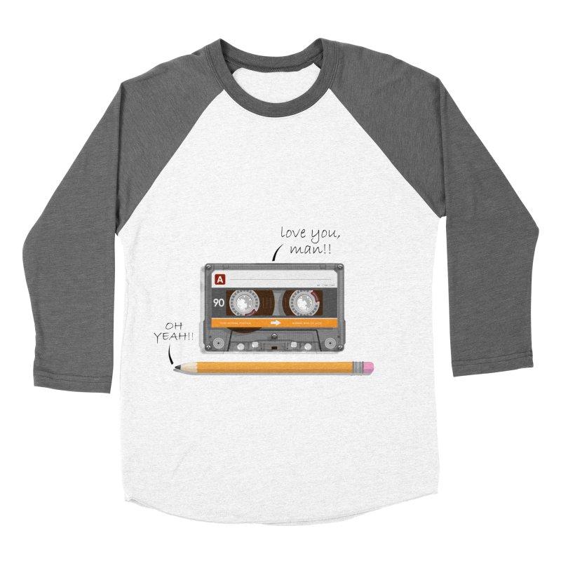 Cassette and Pencil Men's Baseball Triblend T-Shirt by Mrc's Artist Shop