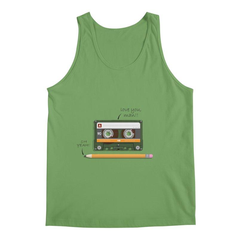 Cassette and Pencil Men's Tank by Mrc's Artist Shop