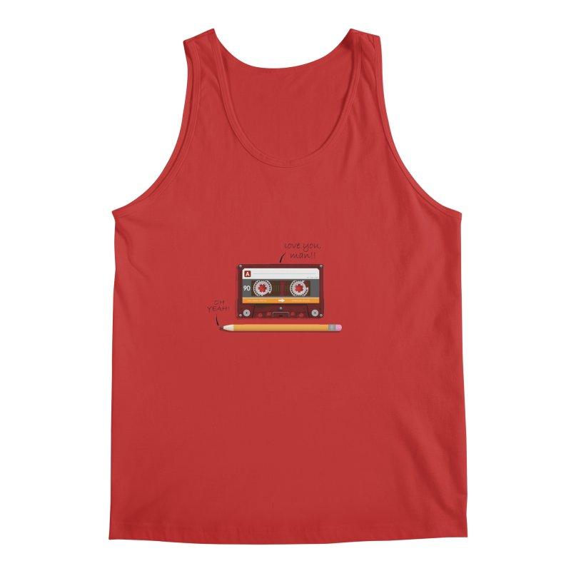 Cassette and Pencil Men's Regular Tank by Mrc's Artist Shop