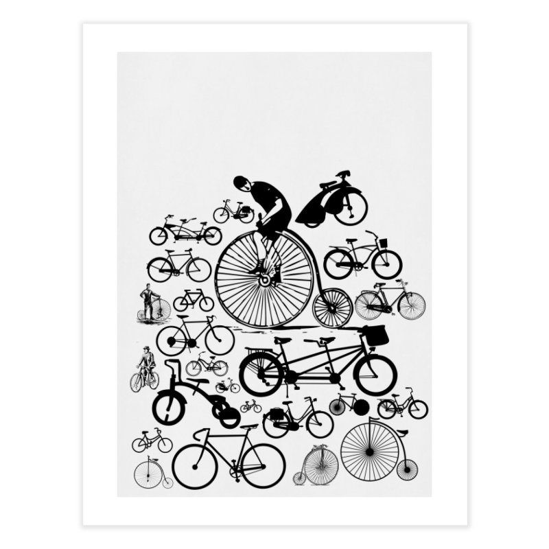 Bicycles Home Fine Art Print by Mrc's Artist Shop