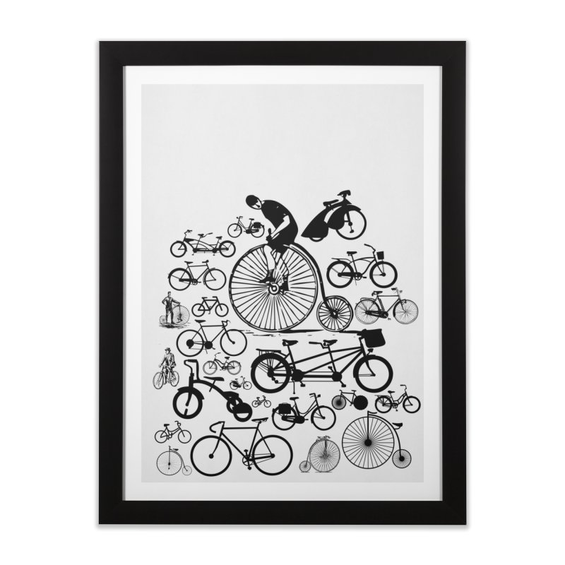 Bicycles Home Framed Fine Art Print by Mrc's Artist Shop