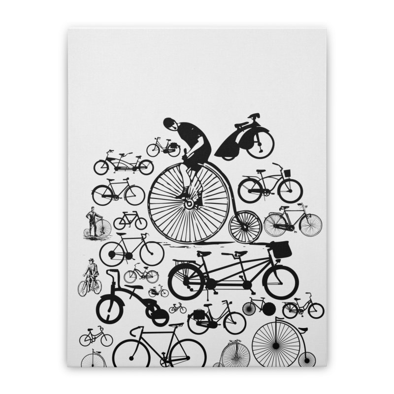 Bicycles Home Stretched Canvas by Mrc's Artist Shop