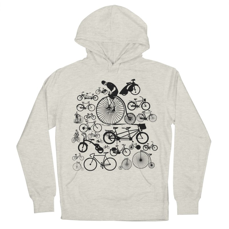 Bicycles Men's French Terry Pullover Hoody by Mrc's Artist Shop