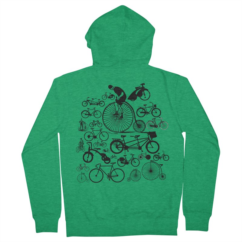 Bicycles Men's French Terry Zip-Up Hoody by Mrc's Artist Shop