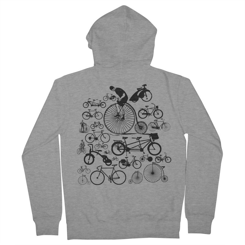 Bicycles Men's Zip-Up Hoody by Mrc's Artist Shop