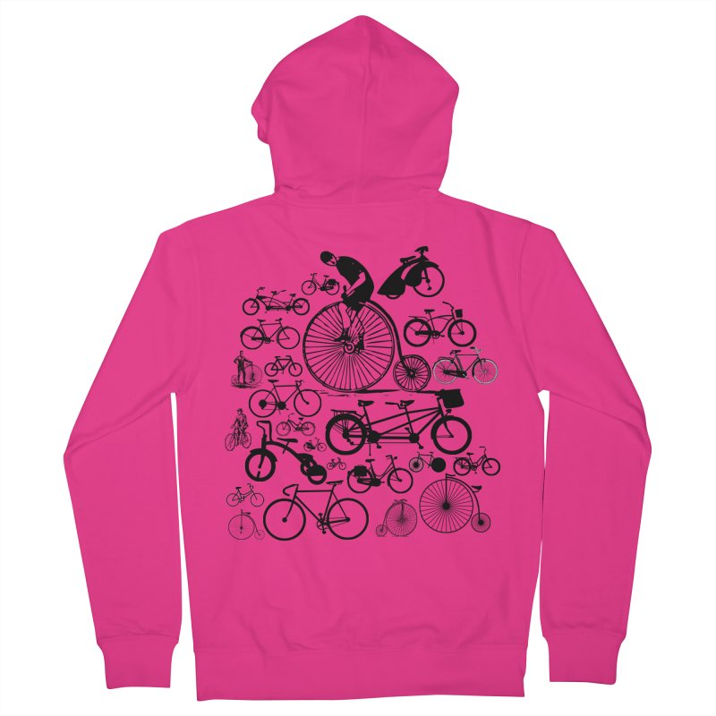 Bicycles Men's Zip-Up Hoody by Mrc's Artist Shop