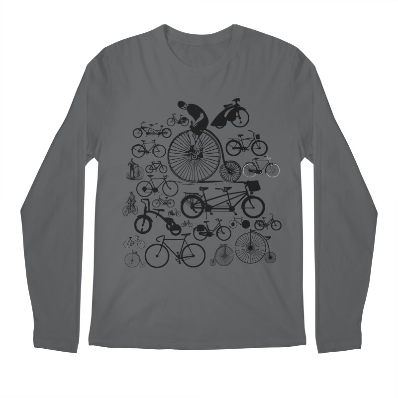 Bicycles Men's Regular Longsleeve T-Shirt by Mrc's Artist Shop